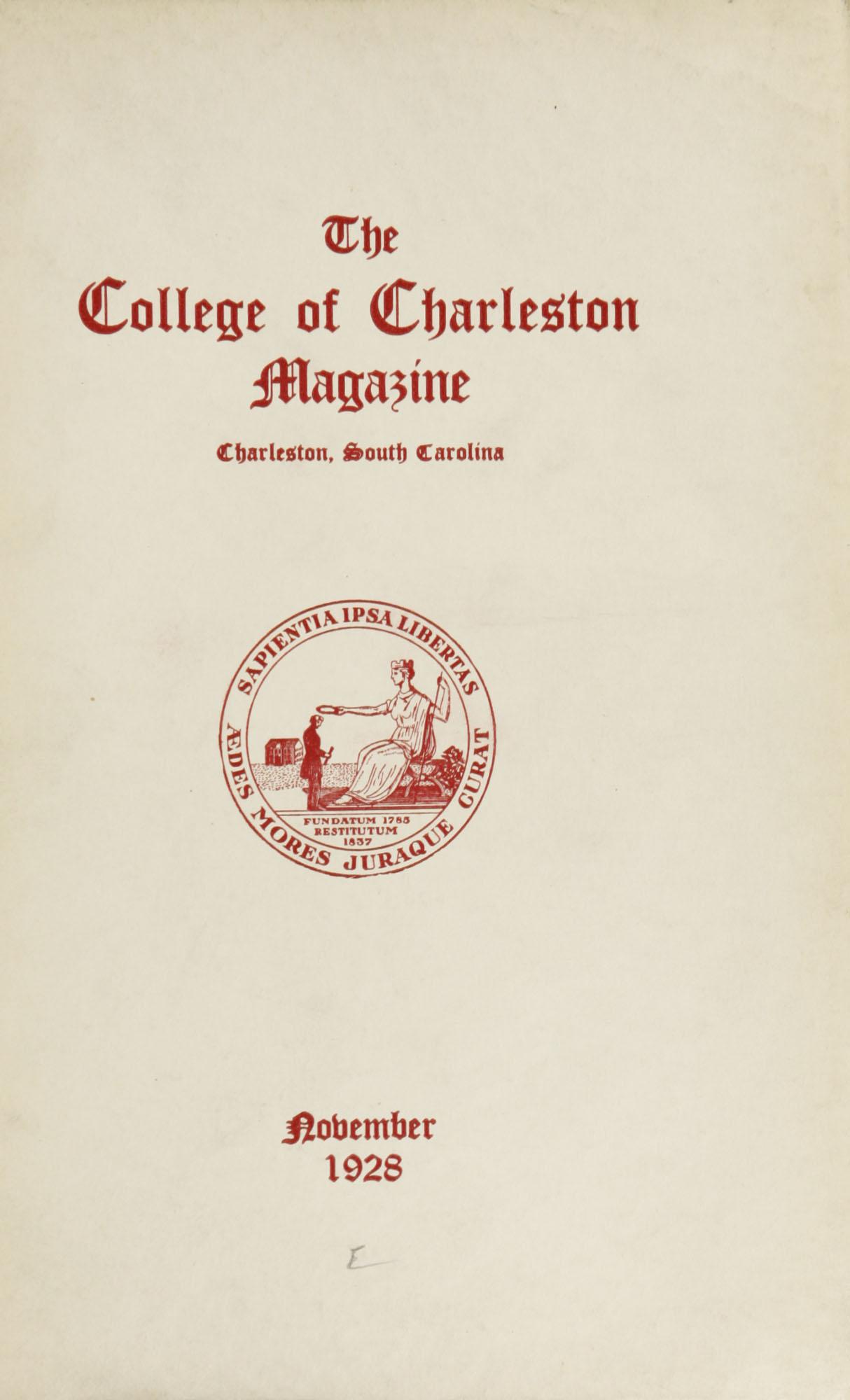 College of Charleston Magazine, 1927-1928