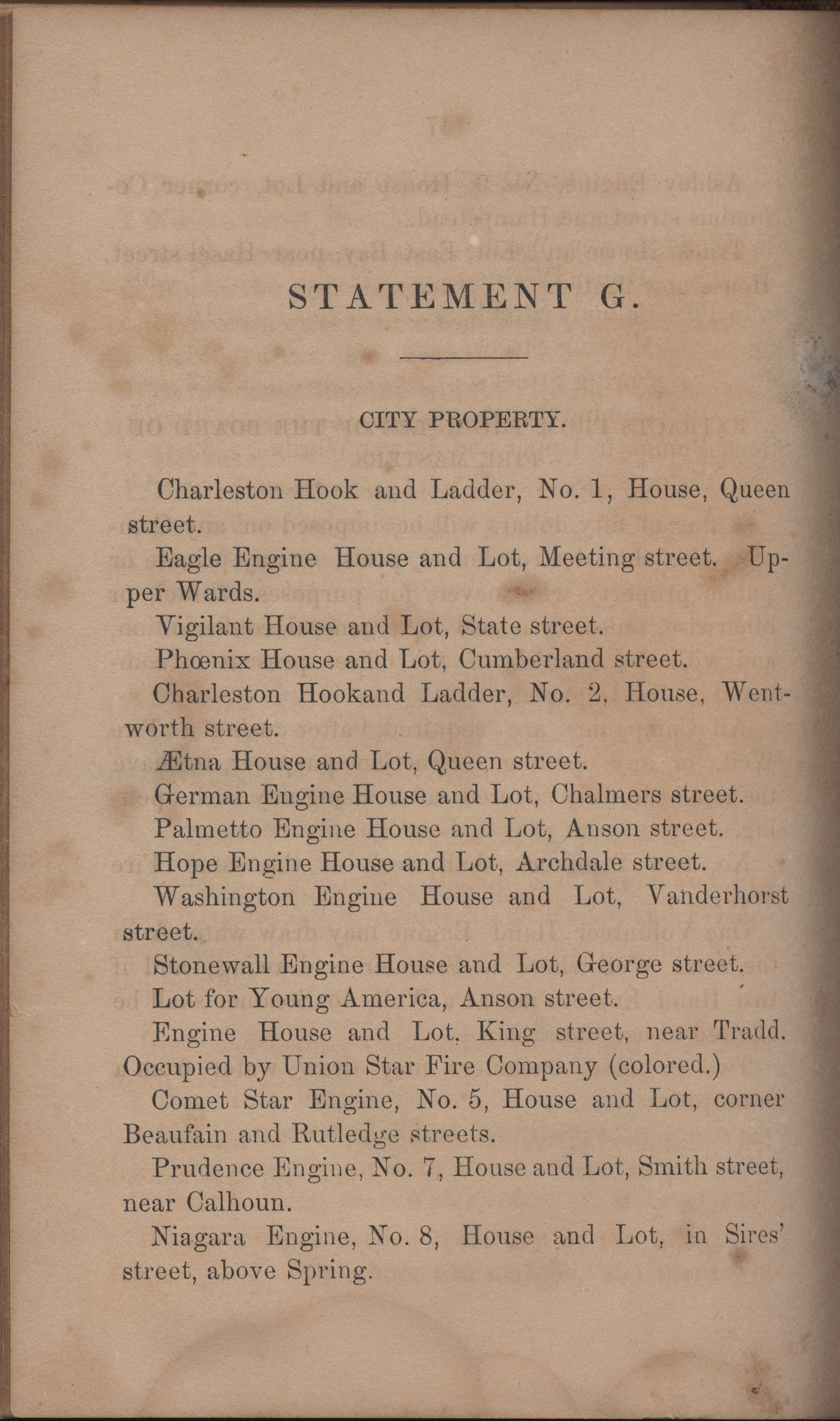 Annual Report of the Chief of the Fire Department of the City of Charleston, page 393
