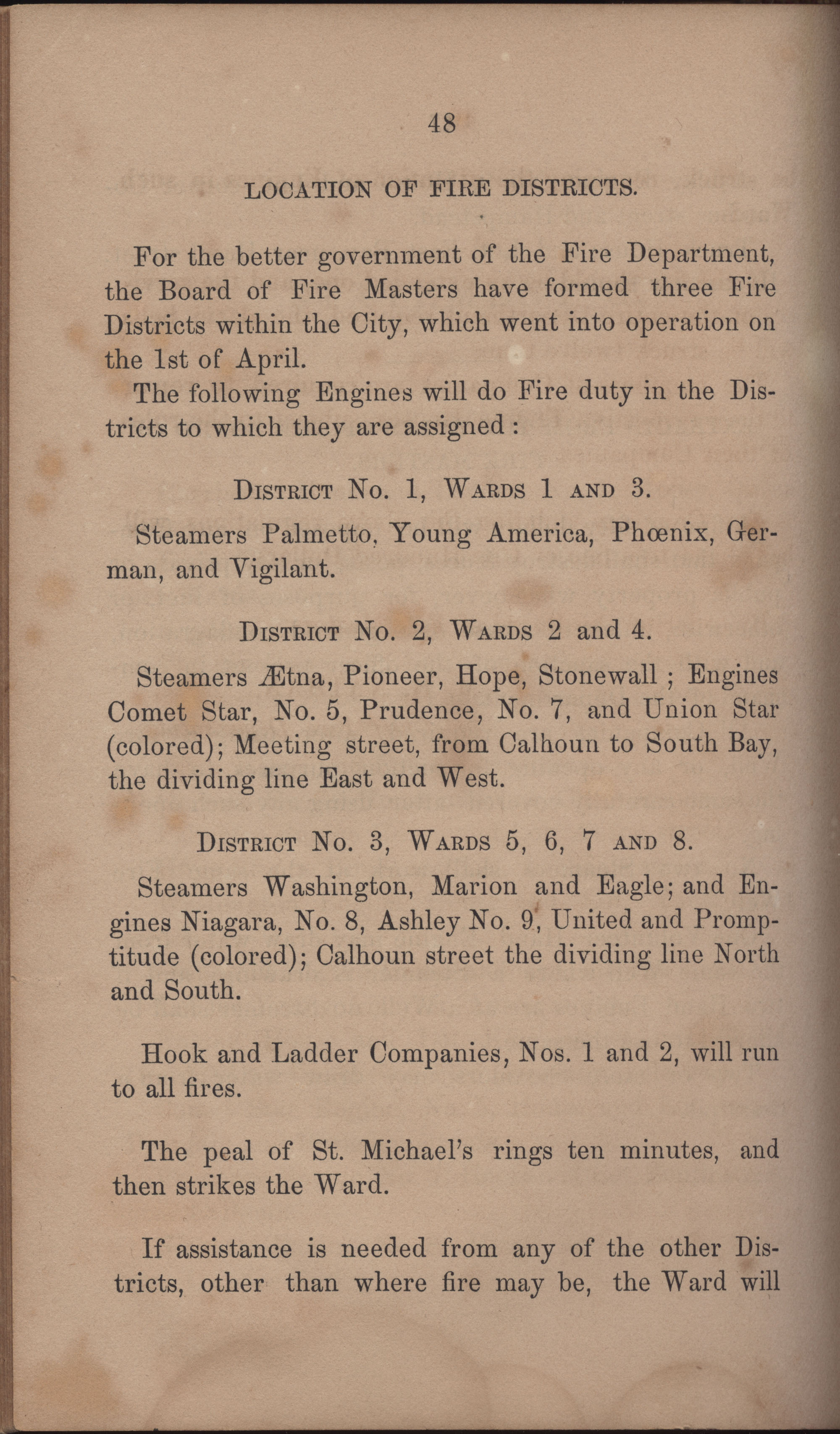 Annual Report of the Chief of the Fire Department of the City of Charleston, page 395