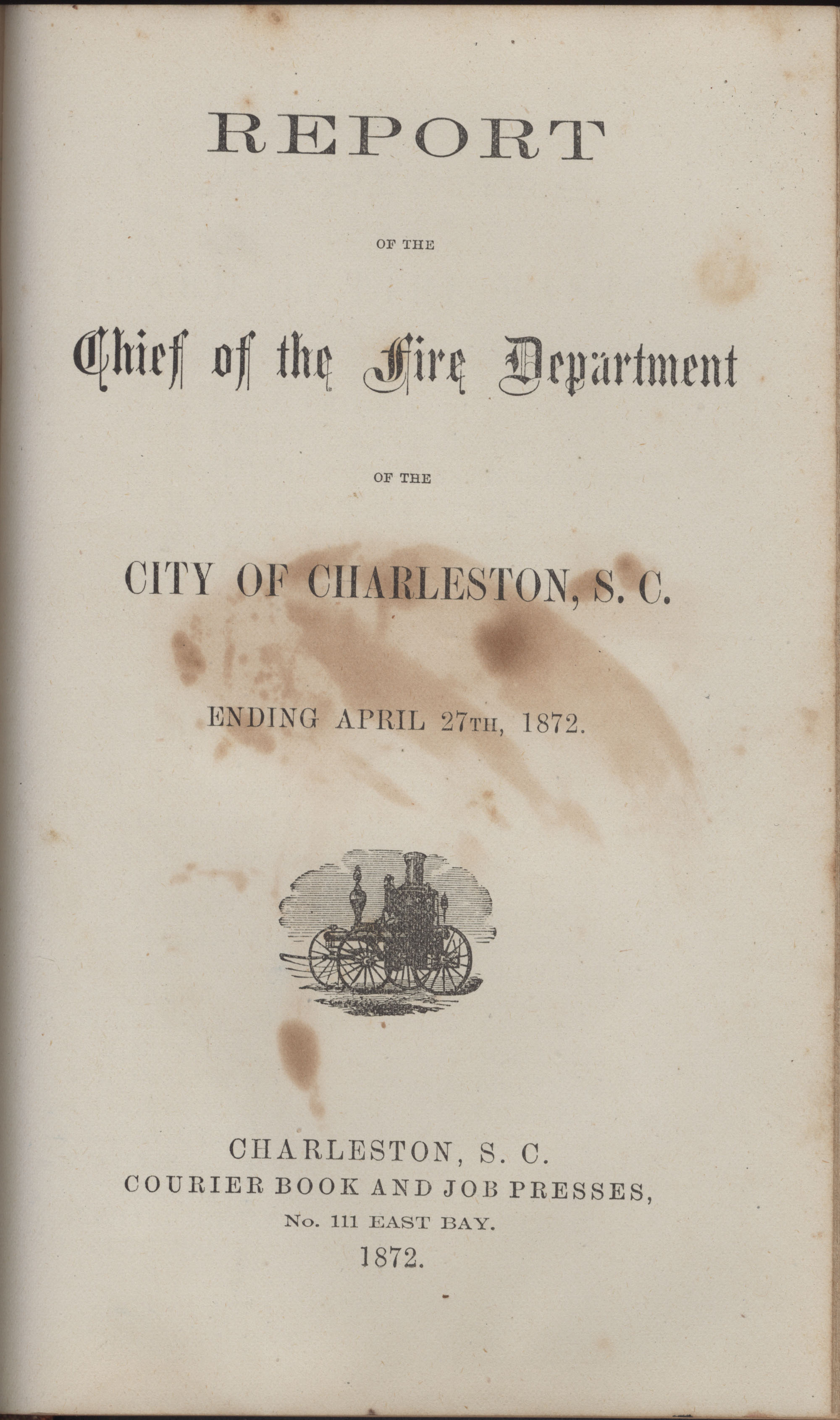 Annual Report of the Chief of the Fire Department of the City of Charleston, page 398