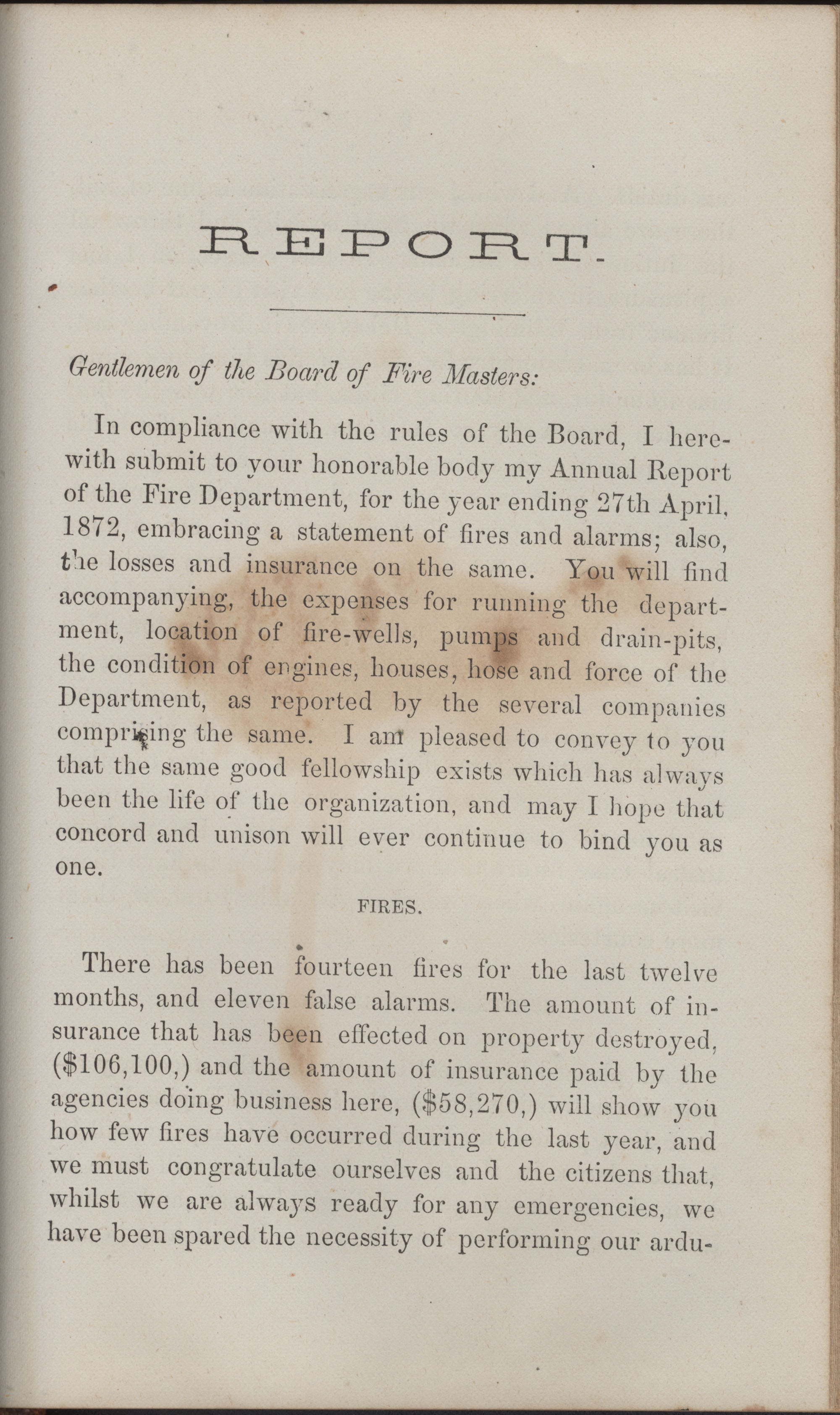 Annual Report of the Chief of the Fire Department of the City of Charleston, page 400