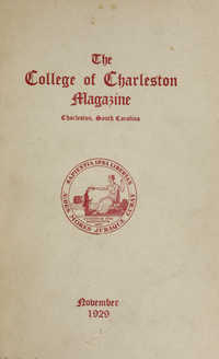 College of Charleston Magazine, 1929-1930