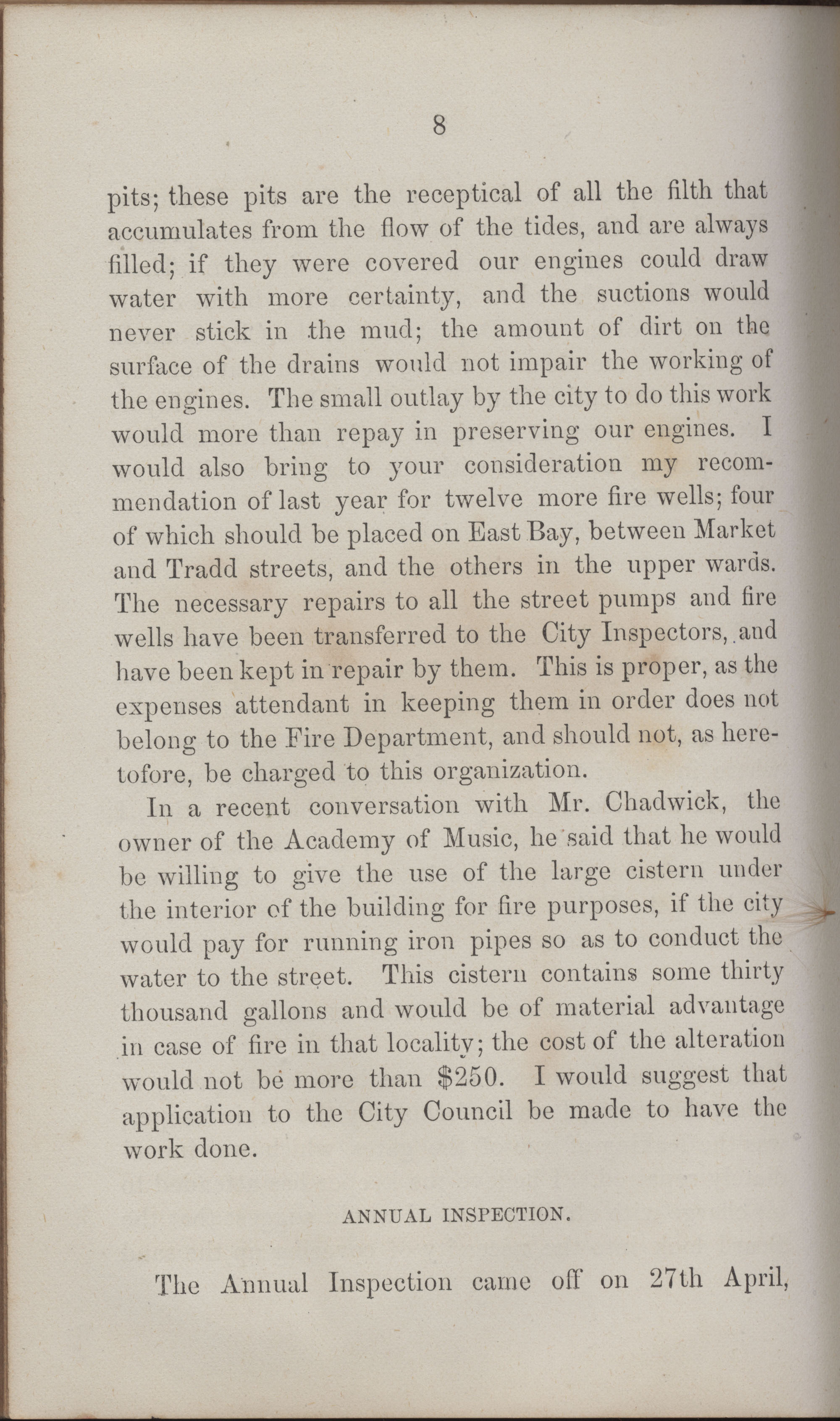 Annual Report of the Chief of the Fire Department of the City of Charleston, page 403