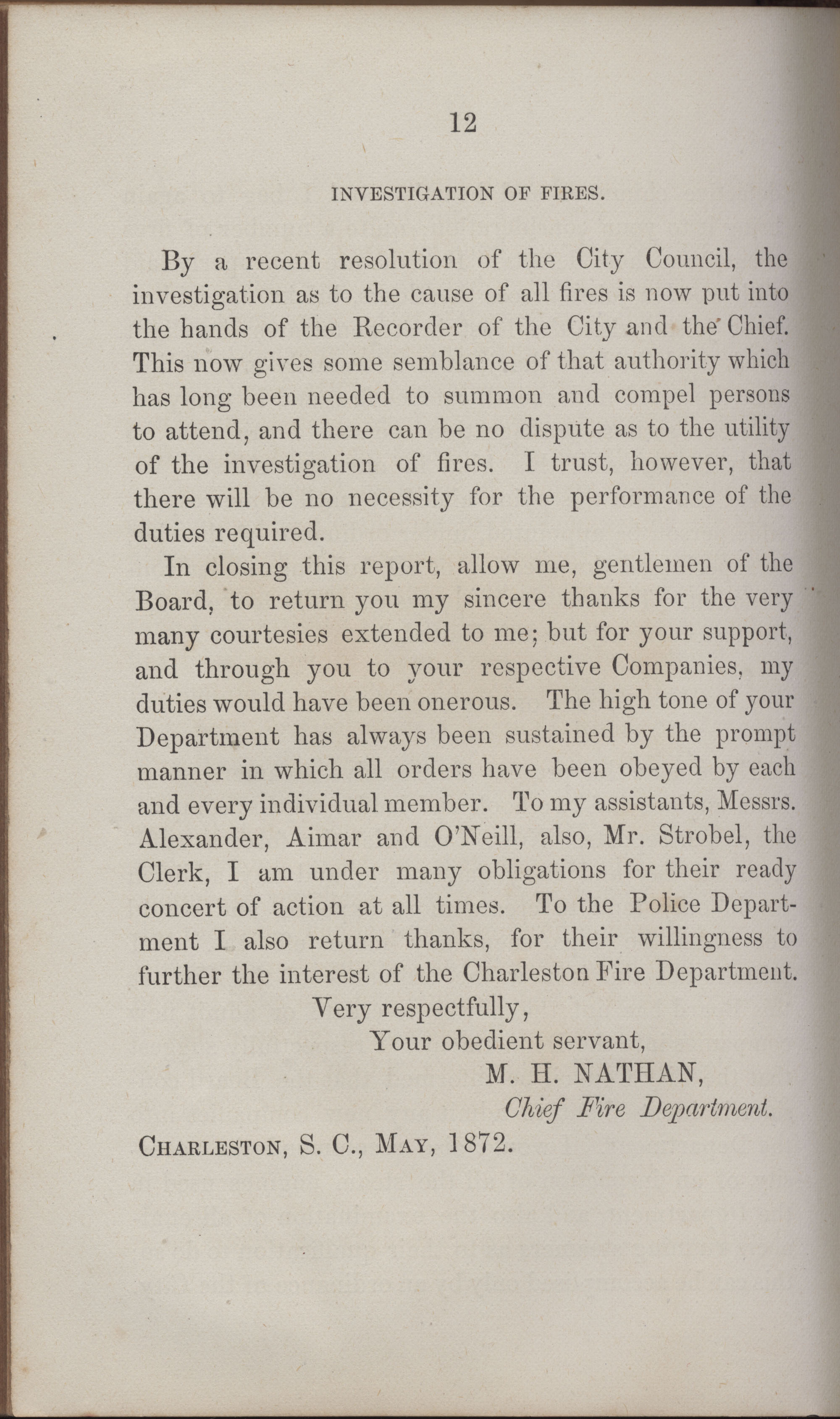 Annual Report of the Chief of the Fire Department of the City of Charleston, page 407