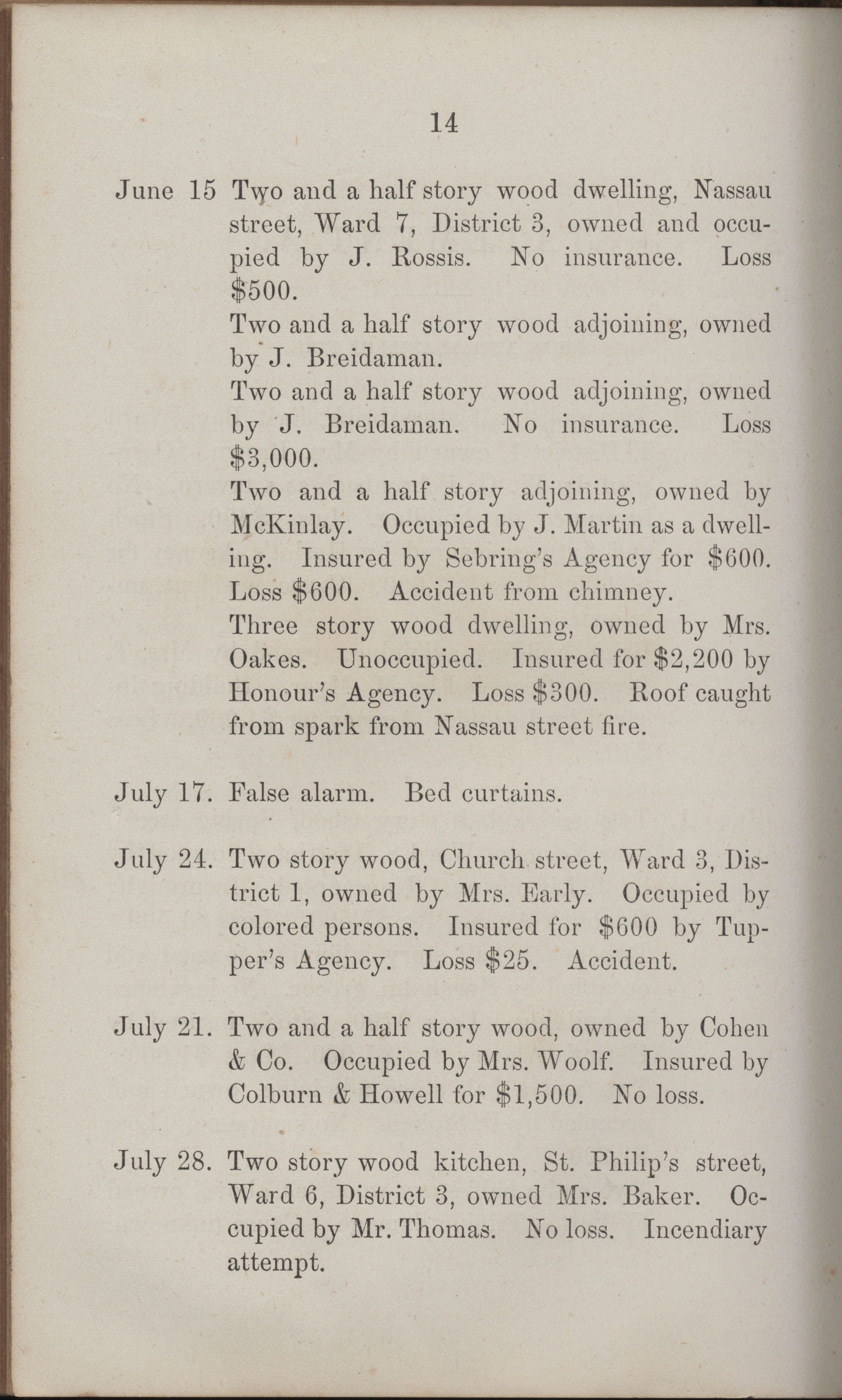 Annual Report of the Chief of the Fire Department of the City of Charleston, page 409