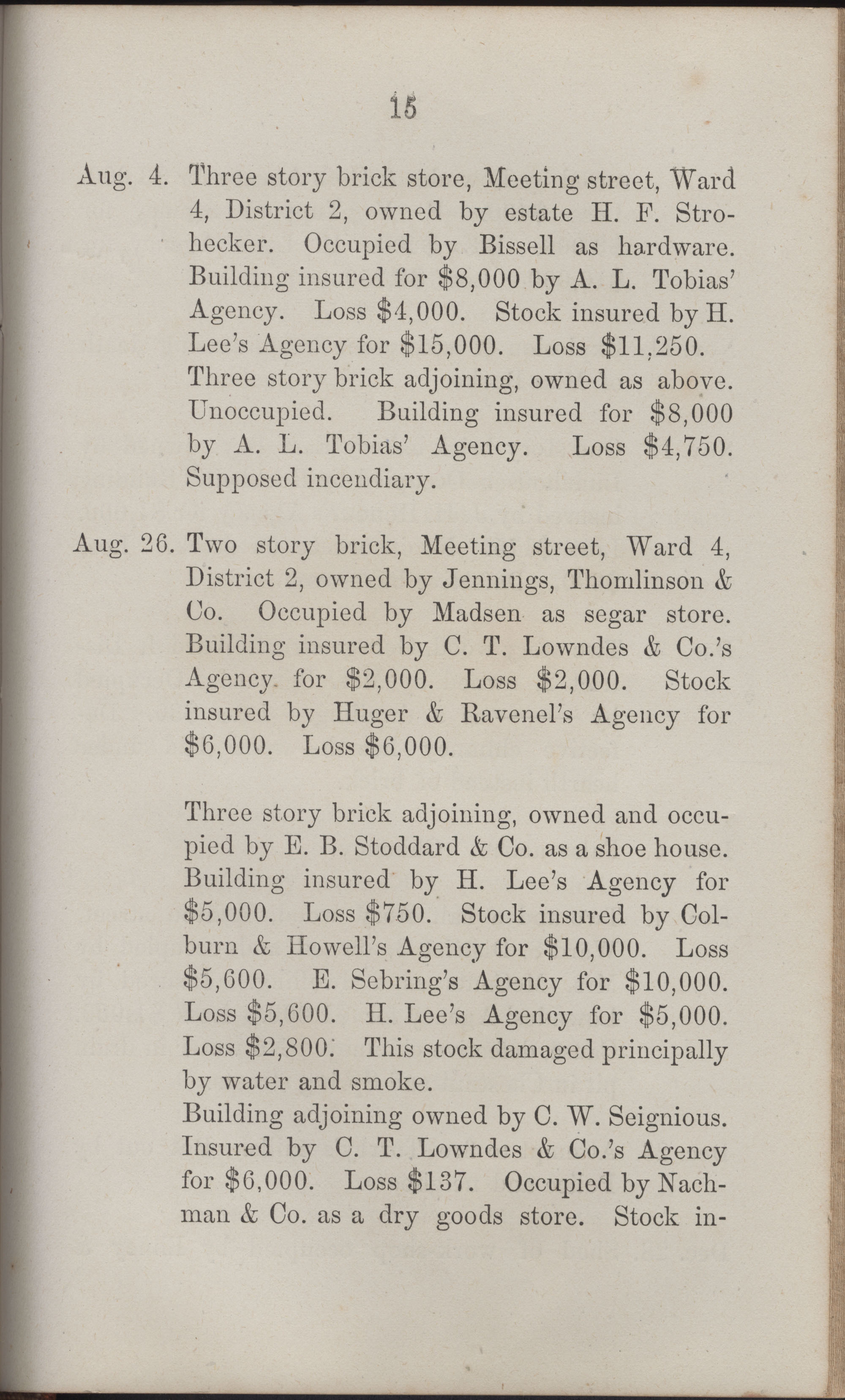 Annual Report of the Chief of the Fire Department of the City of Charleston, page 410