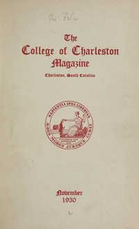 College of Charleston Magazine, 1930-1931