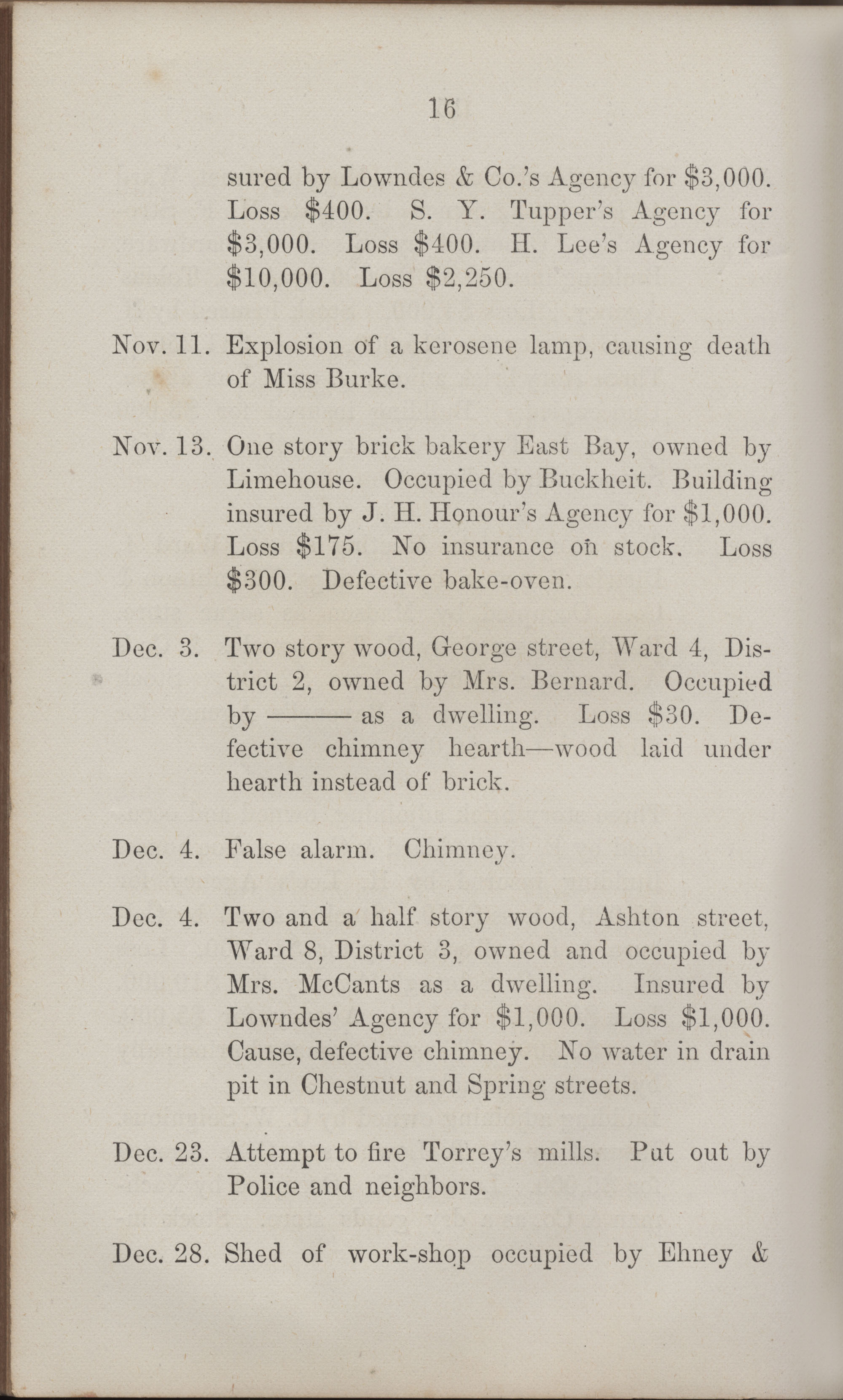 Annual Report of the Chief of the Fire Department of the City of Charleston, page 411