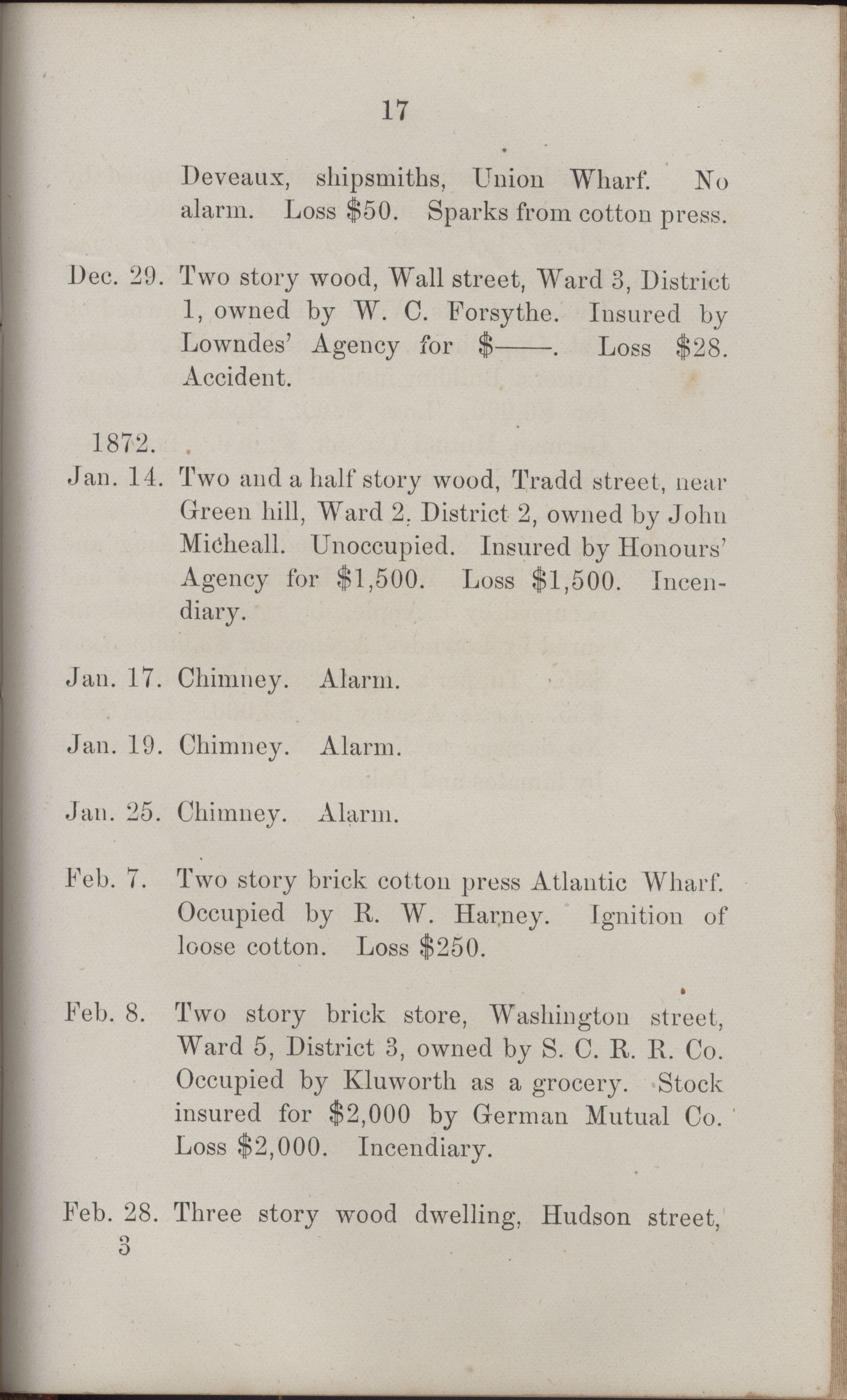 Annual Report of the Chief of the Fire Department of the City of Charleston, page 412