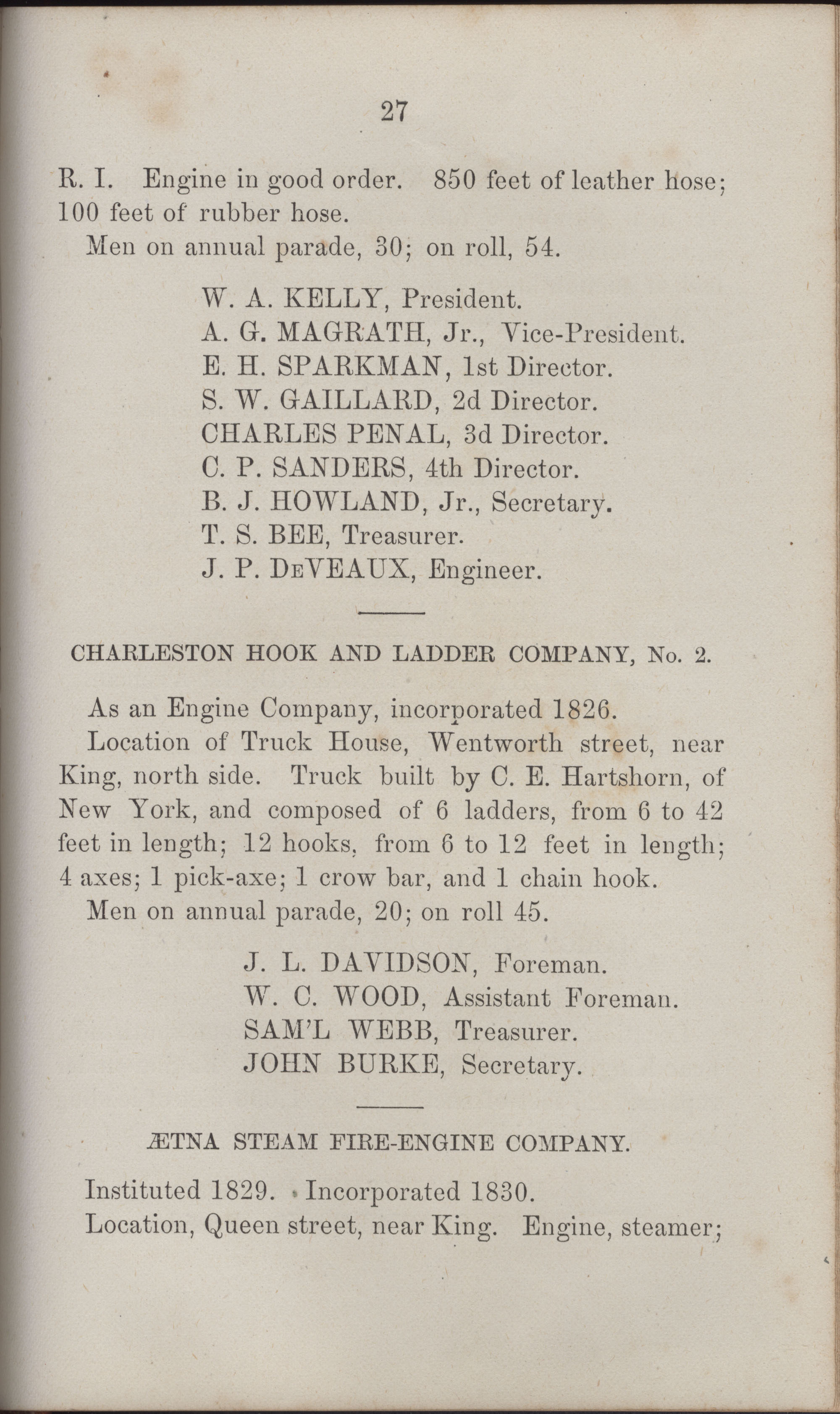 Annual Report of the Chief of the Fire Department of the City of Charleston, page 422