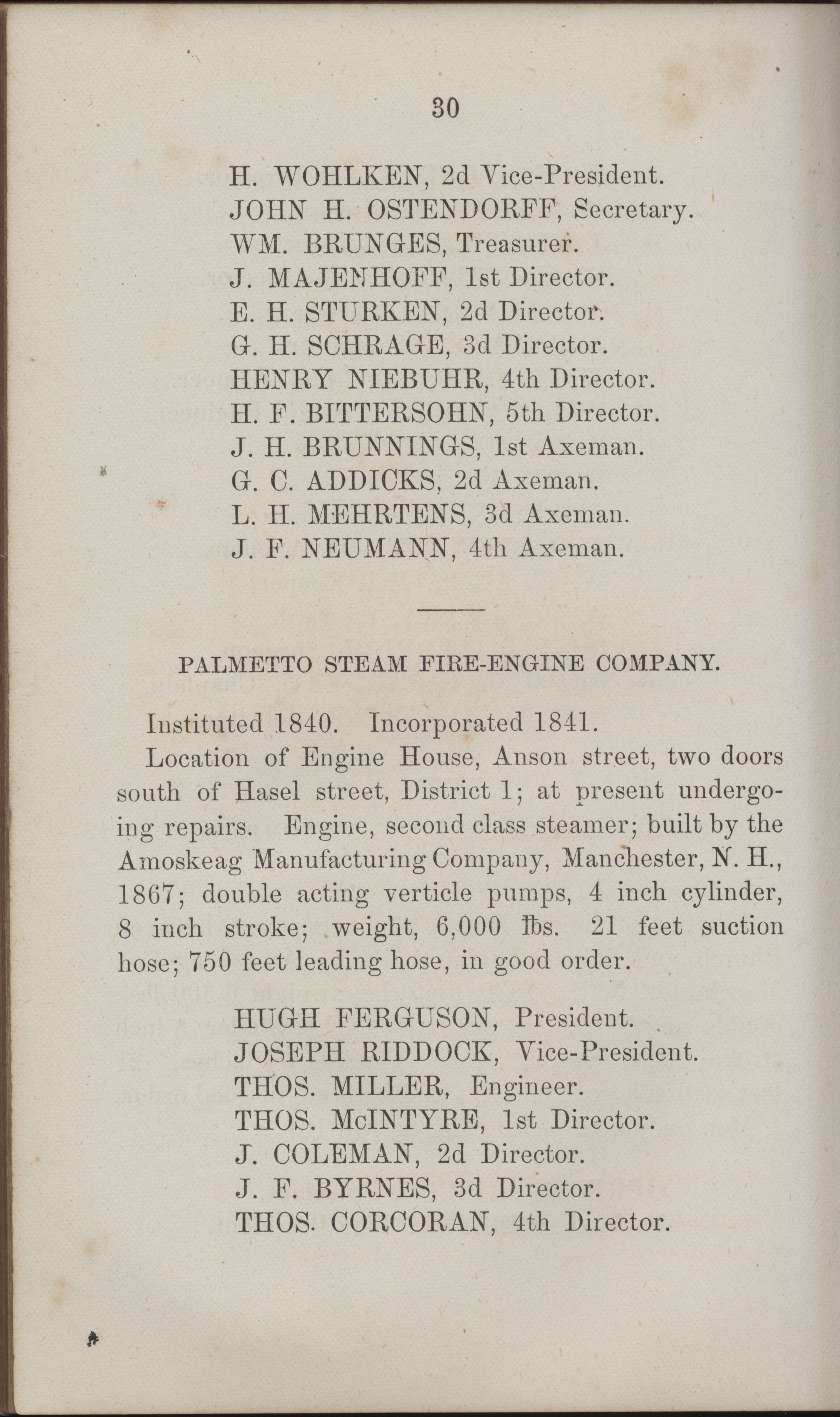 Annual Report of the Chief of the Fire Department of the City of Charleston, page 425