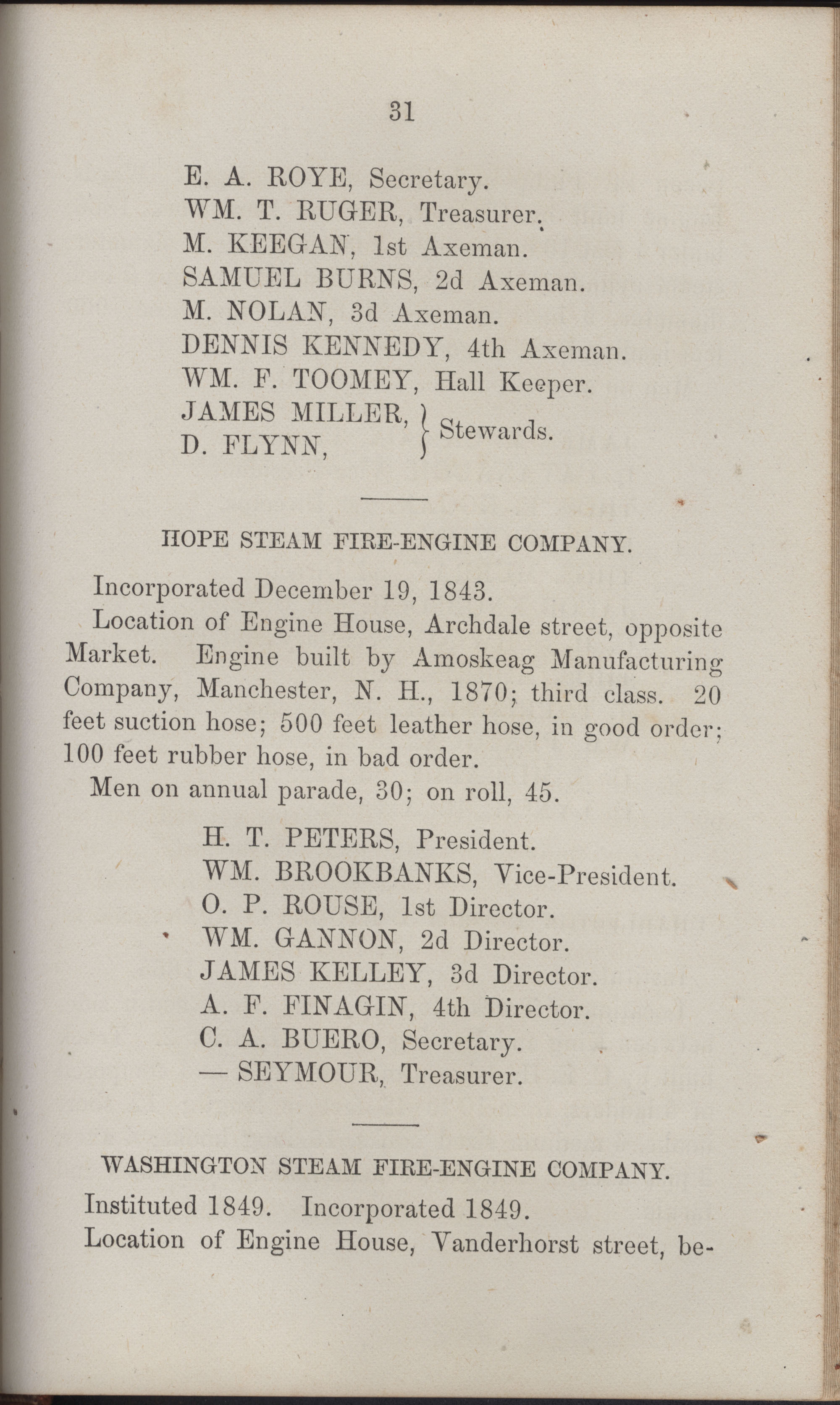 Annual Report of the Chief of the Fire Department of the City of Charleston, page 426