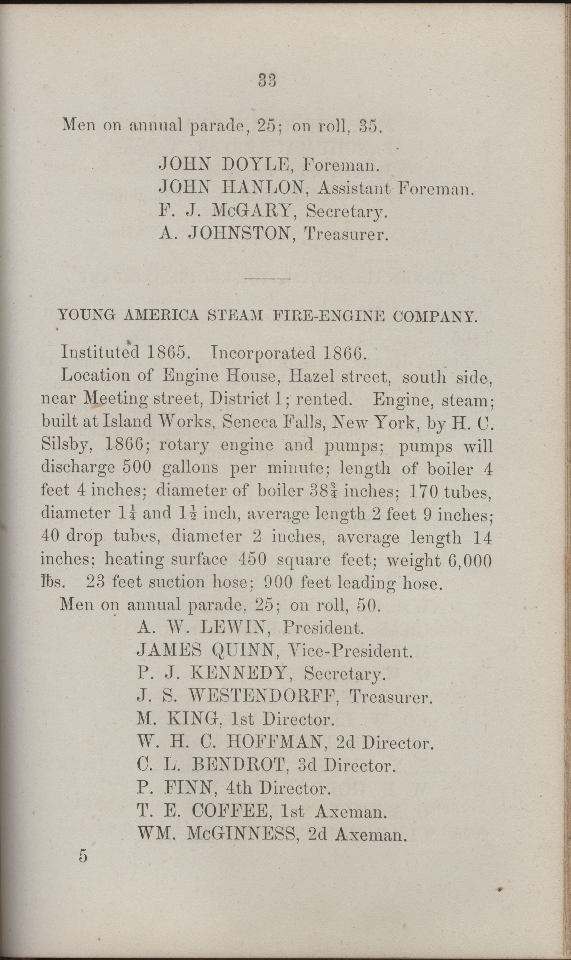 Annual Report of the Chief of the Fire Department of the City of Charleston, page 428