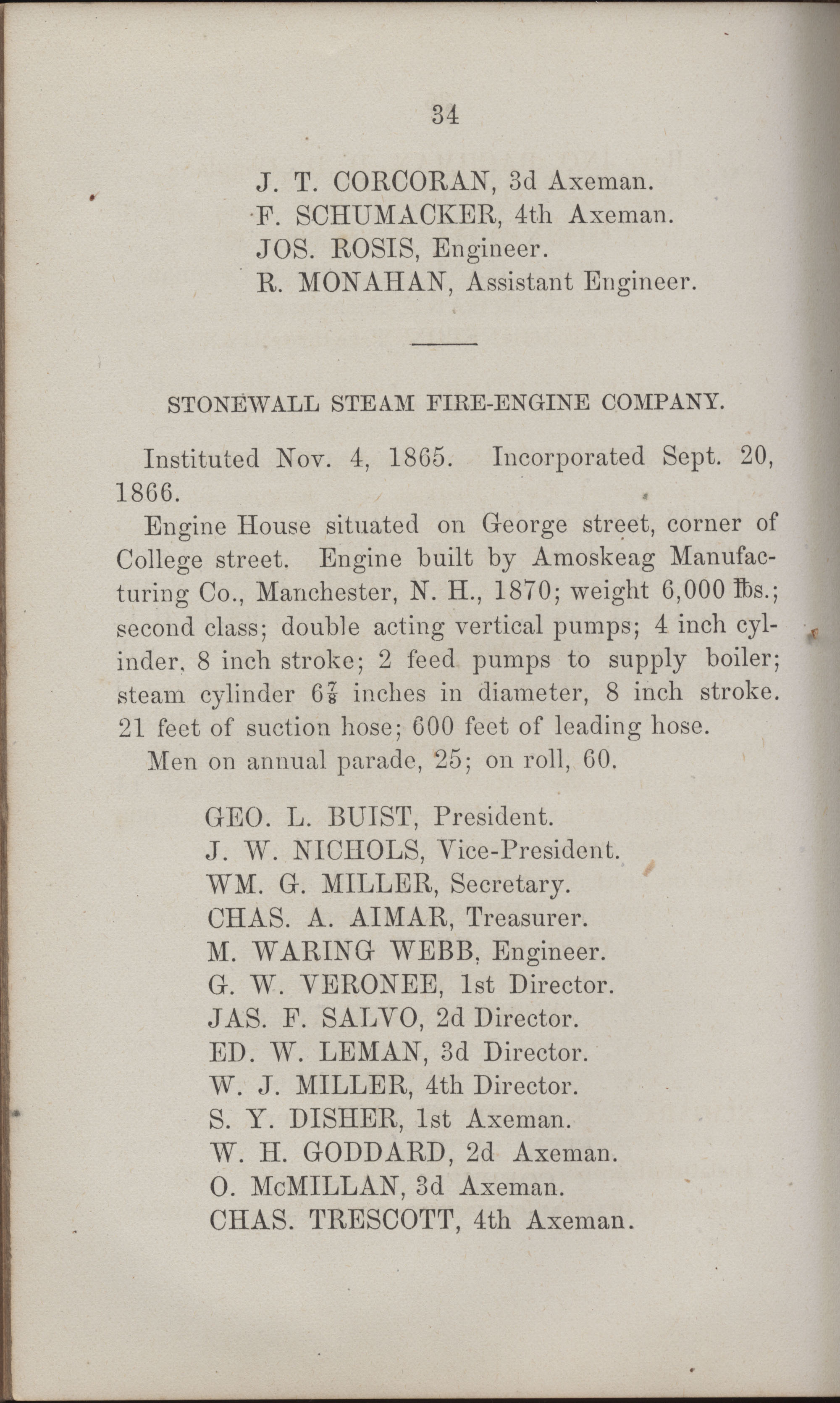 Annual Report of the Chief of the Fire Department of the City of Charleston, page 429