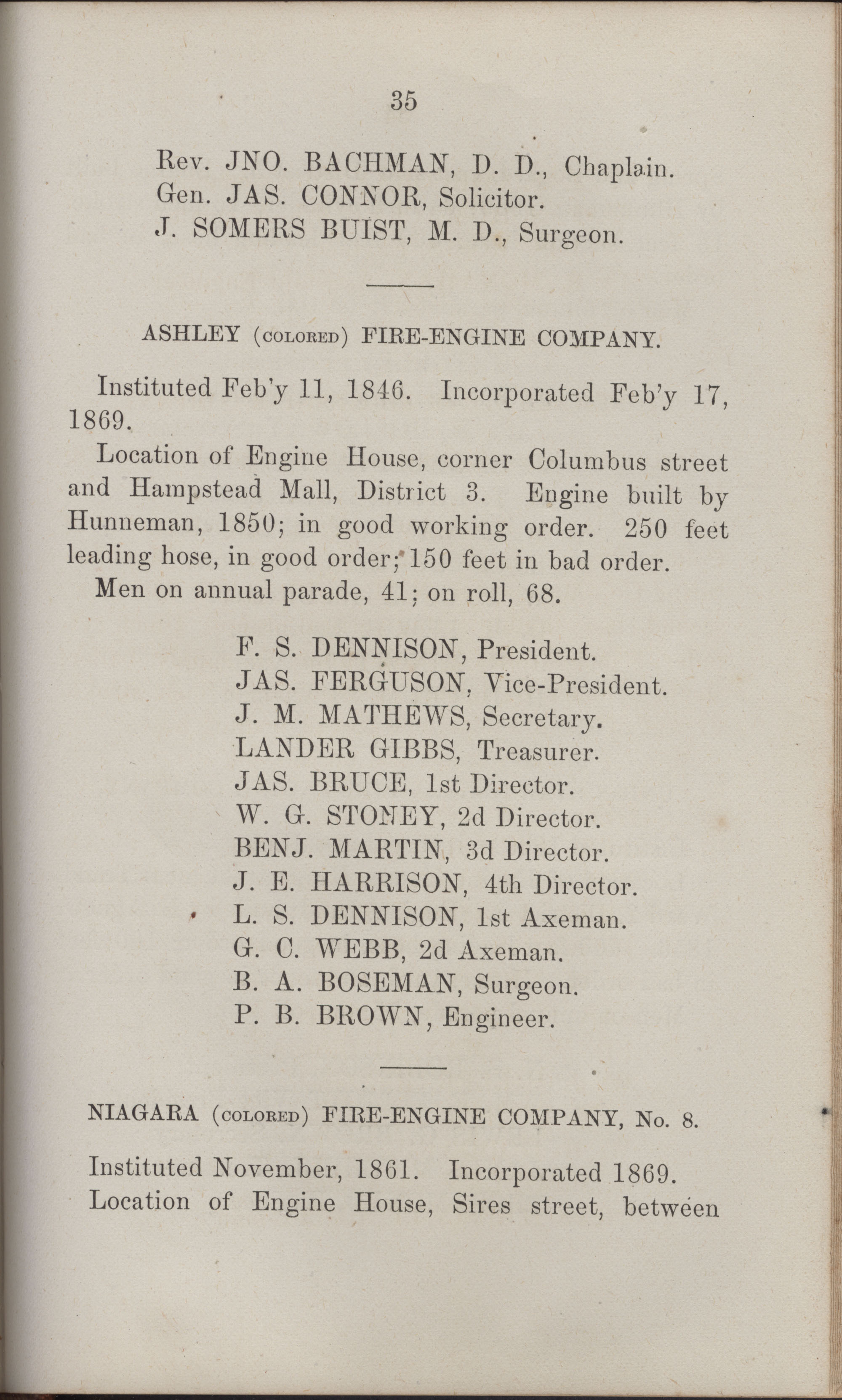Annual Report of the Chief of the Fire Department of the City of Charleston, page 430