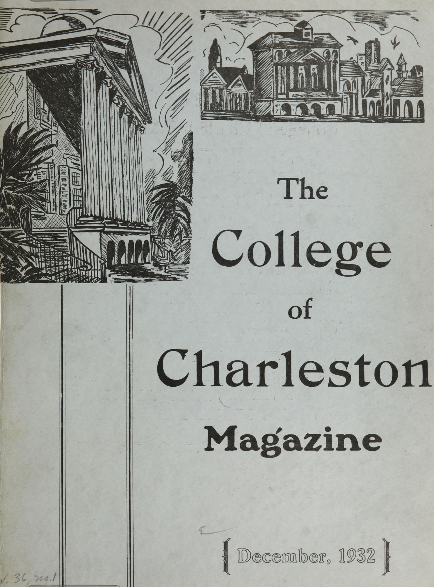 College of Charleston Magazine, 1932-1933