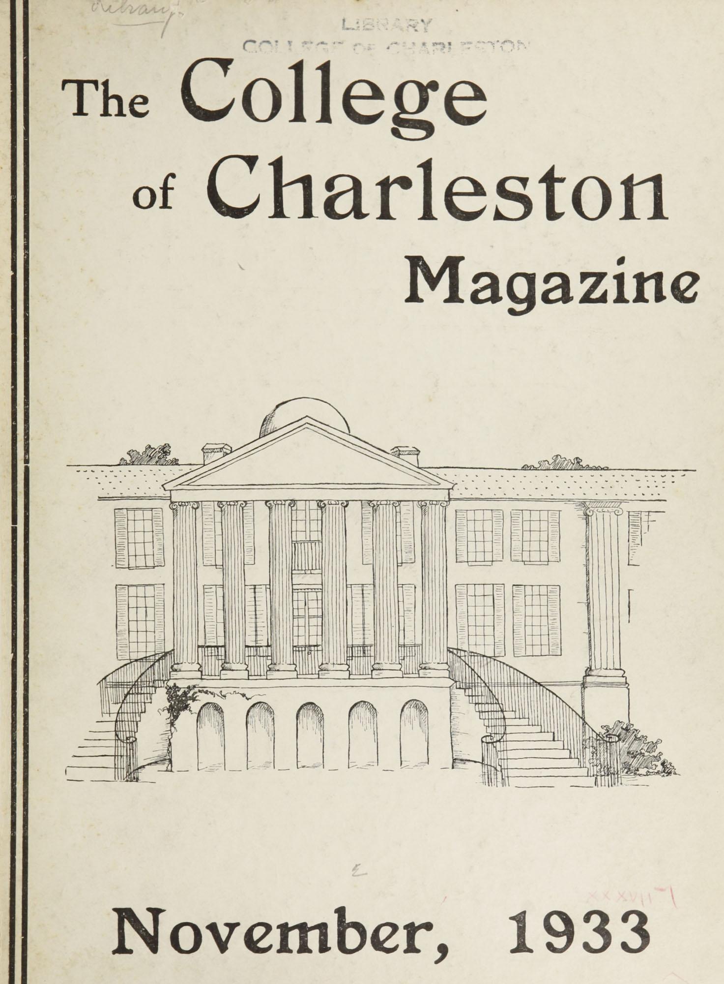 College of Charleston Magazine, 1933-1934
