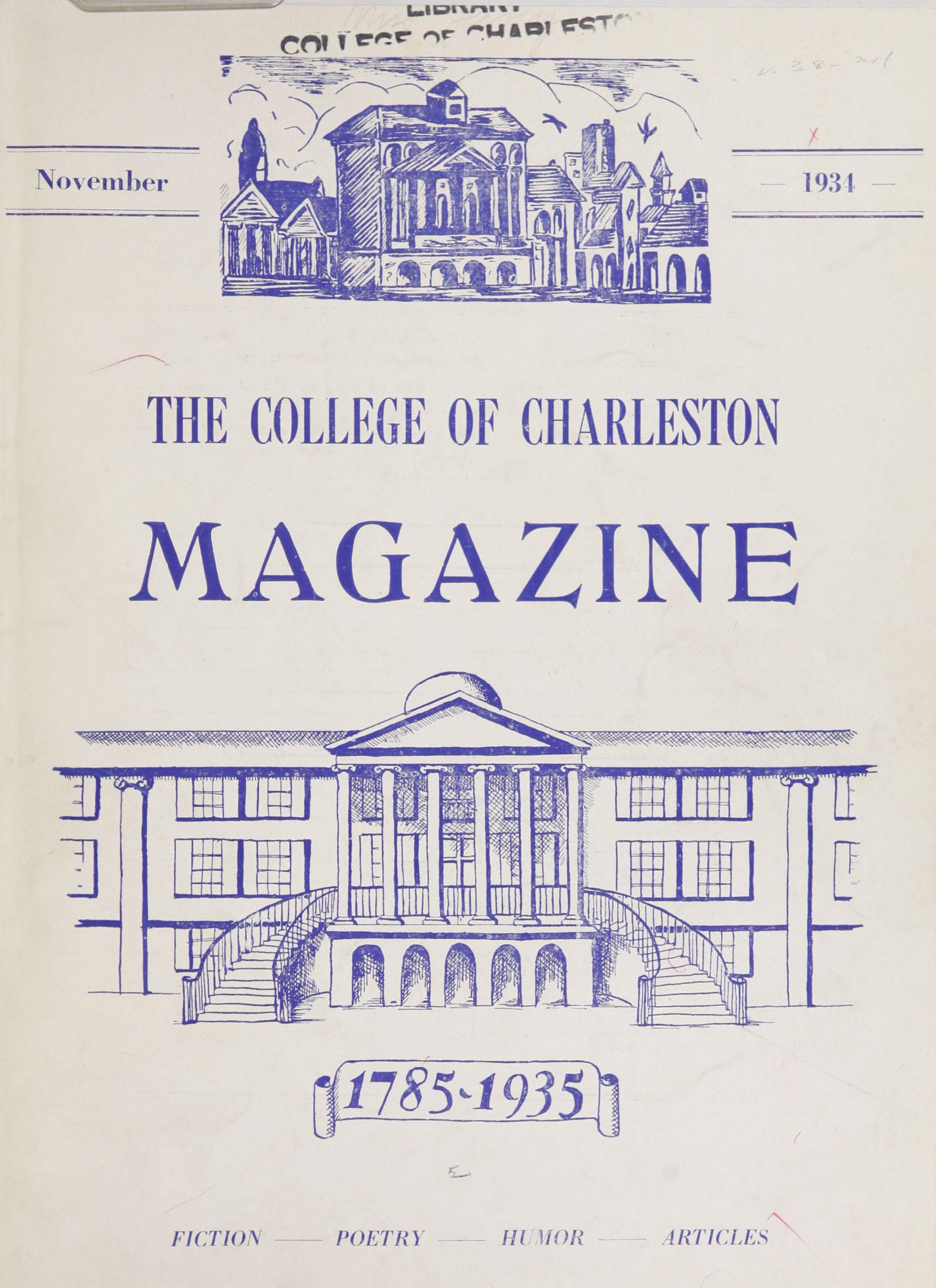 College of Charleston Magazine, 1934-1935