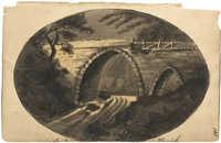 Sketch of an old bridge
