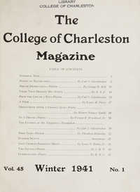College of Charleston Magazine, 1941-1942