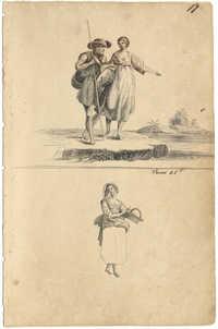 Sketches of rustic scenes