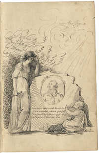 Sketch of monument to George Washington
