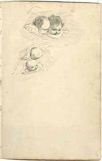 Sketch of cherubs