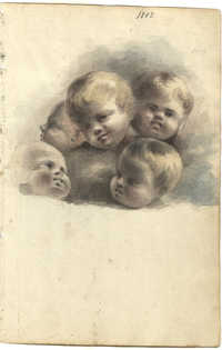Sketch of children's faces