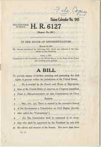 House Resolution 6127, Civil Rights Bill, April 1, 1957