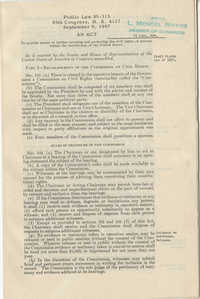 Public Law 85-315, Civil Rights Act of 1957, September 9, 1957