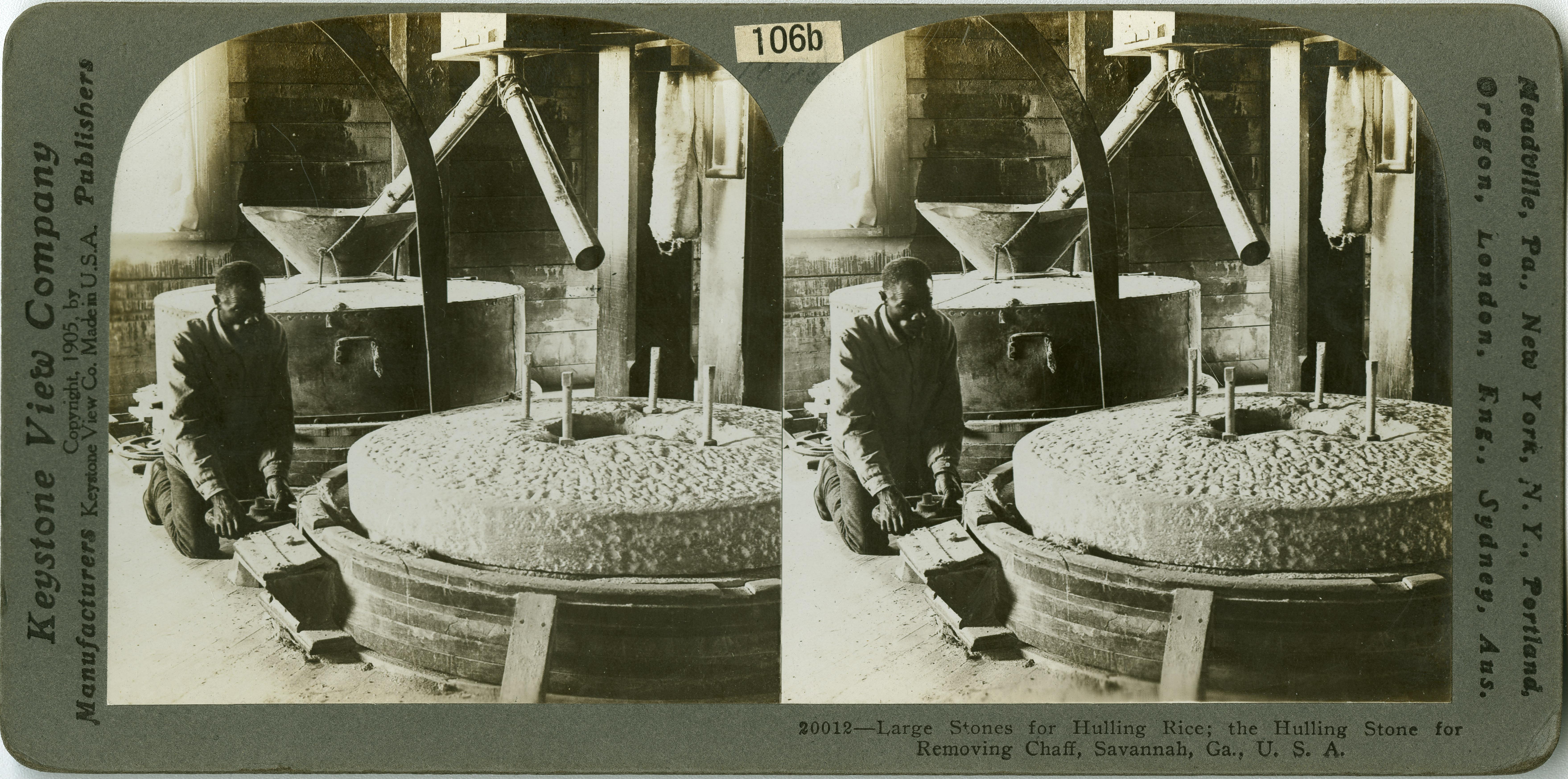 Large stones for hulling rice, Savannah, Ga.