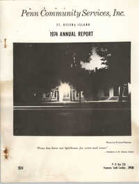 Annual Report, Penn Community Services, 1974