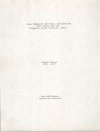 Annual Report, Penn Community Services, 1976-1977