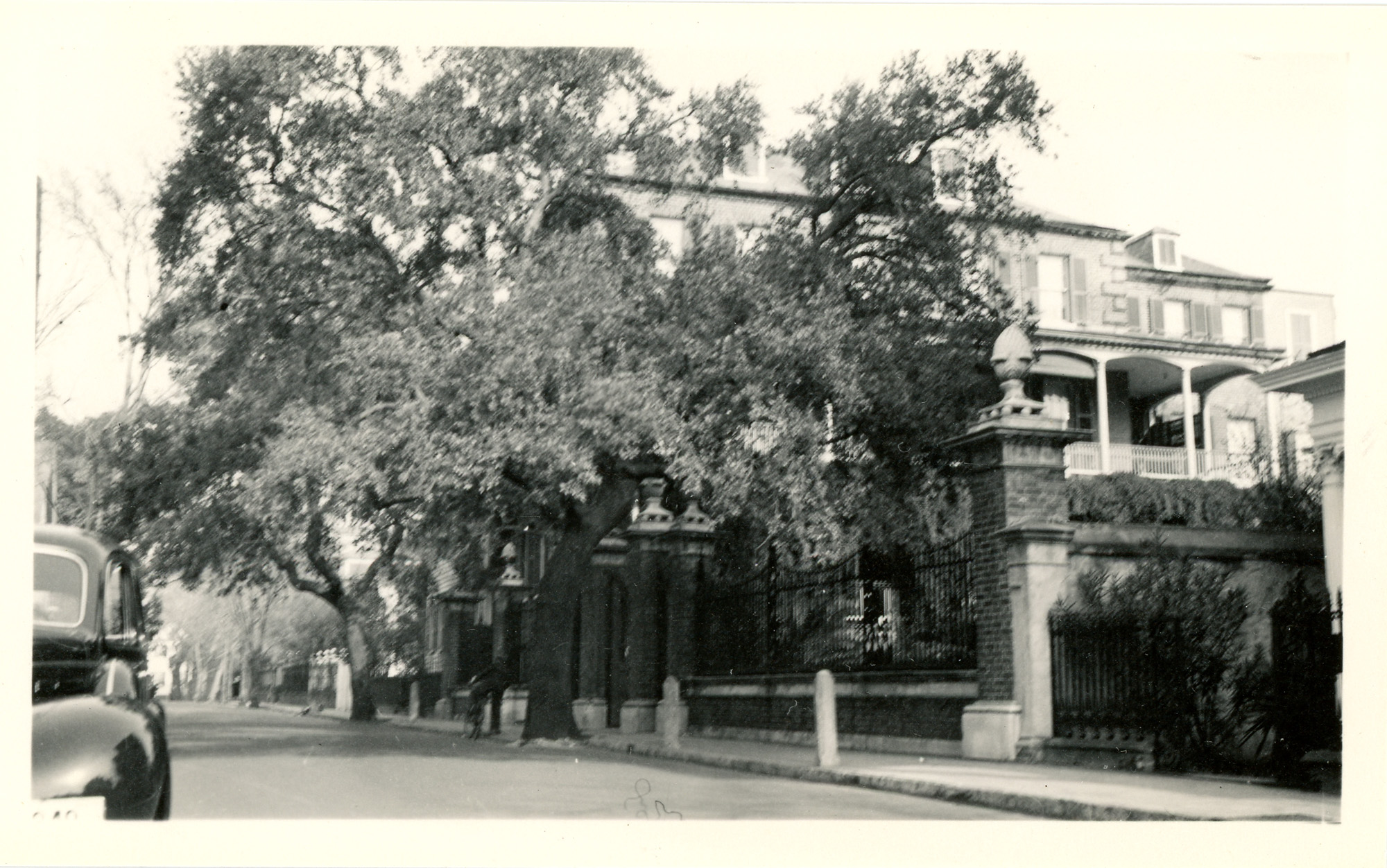 View of Legare Street and the Pineapple Gate House