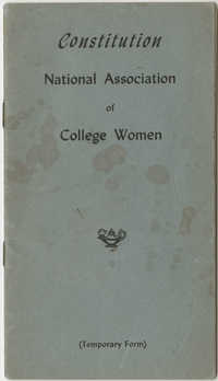 Constitution. National Association of College Women