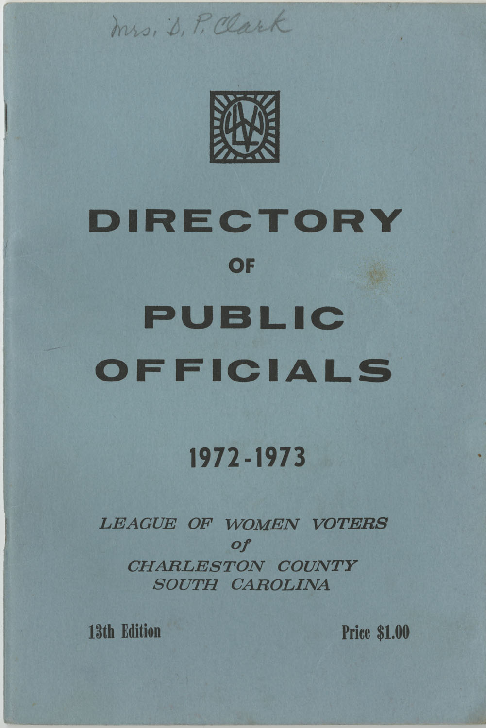 Directory of Public Officials, 1972-1973