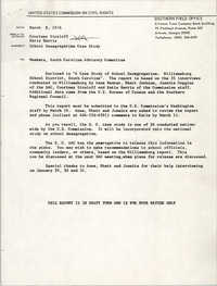 School Desegregation, March 9, 1976