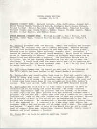 Minutes, Annual Board Meeting, Penn Community Services, October 22, 1977