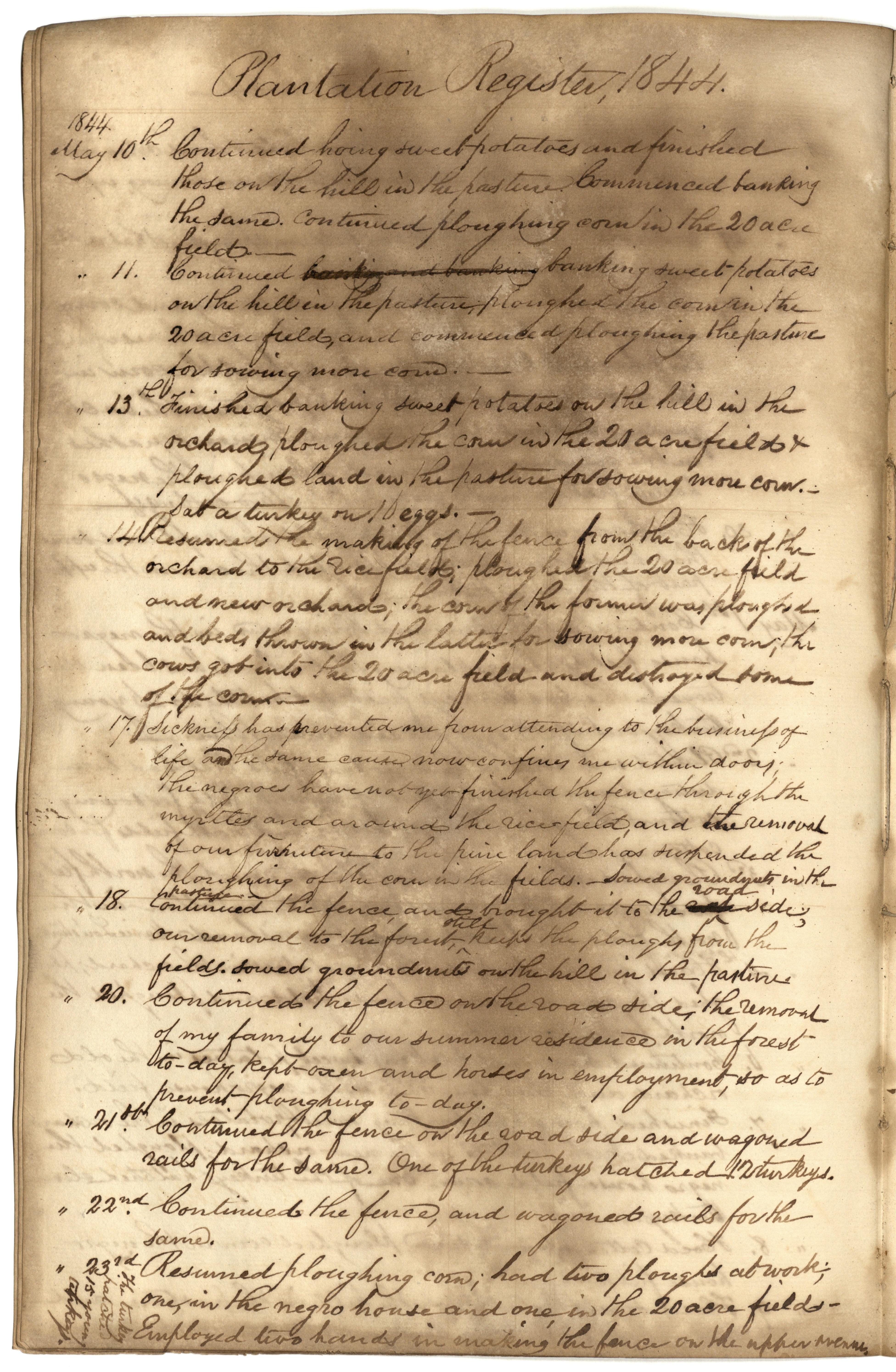 Gibbs Plantation Register, Page 102