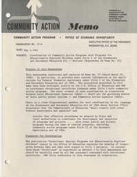 Community Action Program Memorandum No. 27-A
