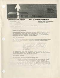 Community Action Program Memorandum No. 39