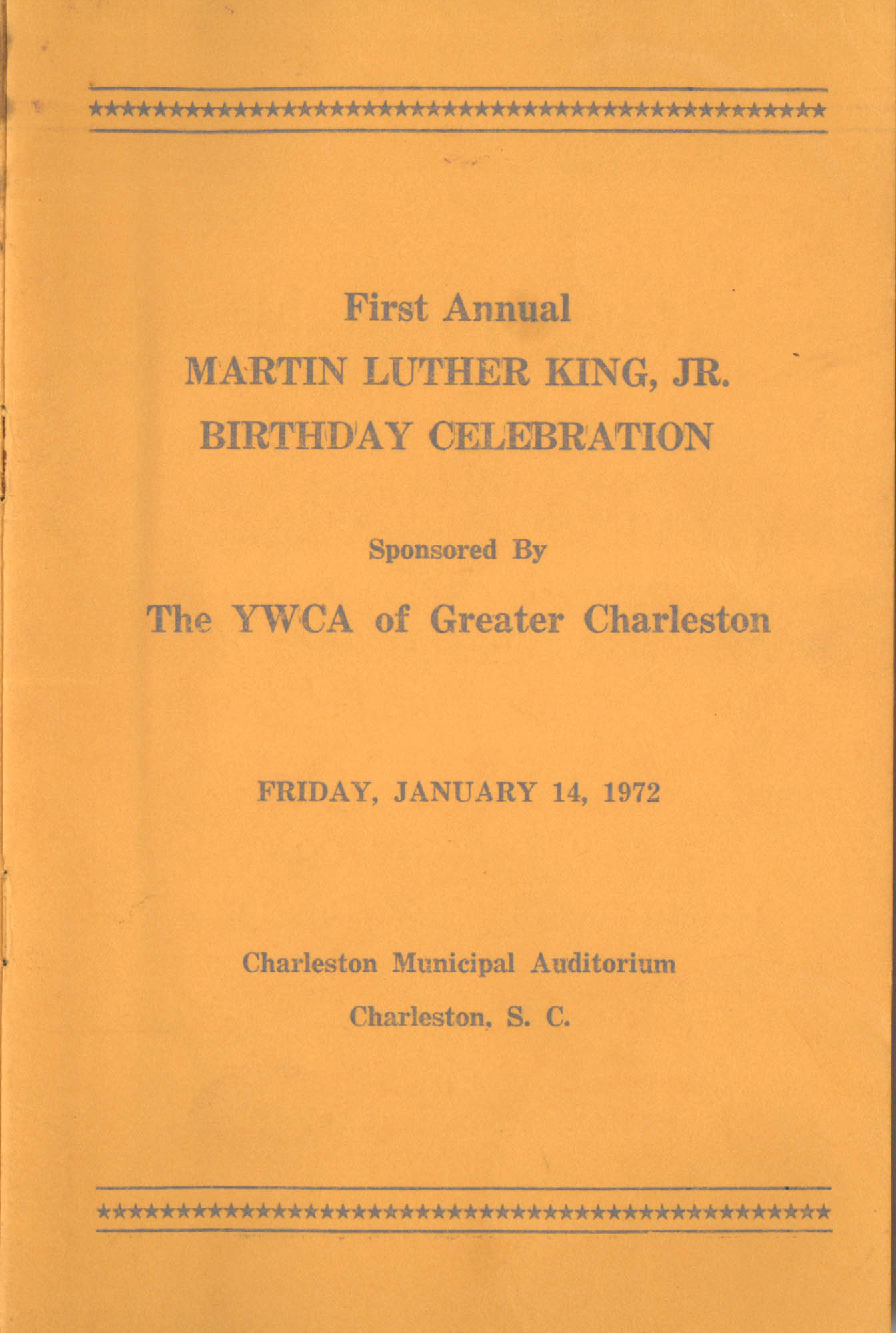 First Annual Martin Luther King, Jr. Birthday Celebration
