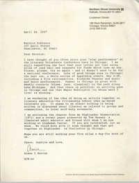 Letter from Aimee I. Horton to Bernice Robinson, Highlander Dissertation Chapter