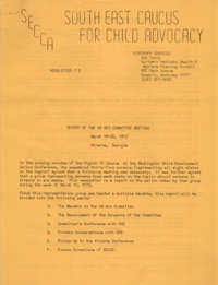 South East Caucus for Child Advocacy, Newsletter No. 2