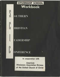 Southern Christian Leadership Conference Citizenship School Workbook