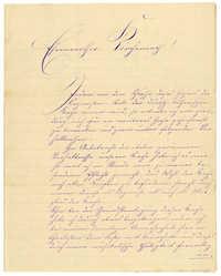 Letter from John Heinemann, December 28, 1874