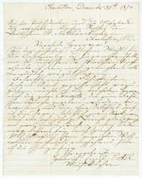Letter from Heinrich Emil Eckel, December 30, 1874