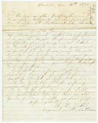 Letter from Heinrich Emil.Eckel, January 18, 1875