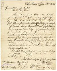 Letter from Pastor Louis Muller to Pastor Johannes Heckel, February 3, 1877