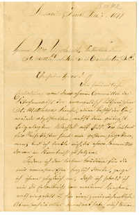 Letter from Johannes Heckel to William Ufferhardt, February 7, 1877